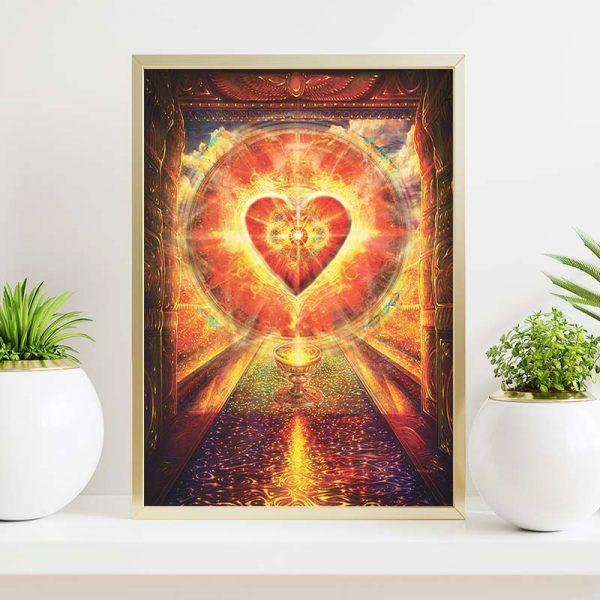 "Grafika Duchowa ""Kosmiczne Serce"""