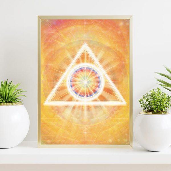 Grafika duchowa Trójkąt Krom-a