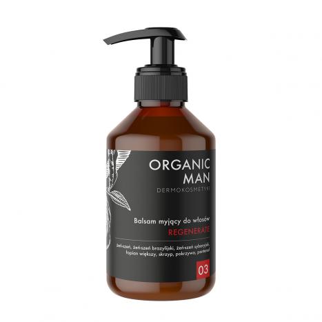 Balsam myjący do włosów regenerujący Organic Man
